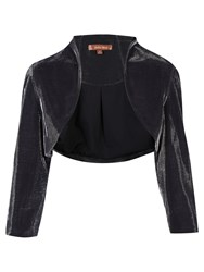Jolie Moi Retro Metallic Bolero Jacket Black