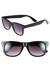 Icon Eyewear 59Mm Retro Sunglasses Black Opaque