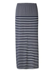 White Stuff Agra Stripe Jersey Maxi Skirt Navy