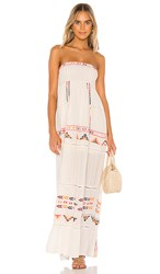 Tularosa Felicity Embroidered Dress In White.