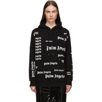 Palm Angels Black And White Ultra Hoodie