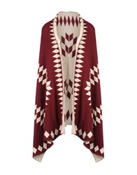 George J. Love Coats And Jackets Capes And Ponchos Maroon