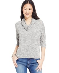 One Clothing Juniors' Printed Cowl Neck Top