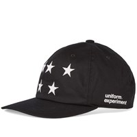 Uniform Experiment Five Star Cotton Twill Logo Cap Black