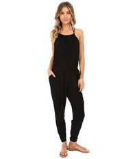 Seafolly Safari Jumpsuit Cover Up Black Women's Jumpsuit And Rompers One Piece
