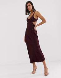 Bec And Bridge Caroline Cut Out Maxi Dress Purple