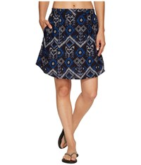 Kavu South Beach Skirt Blue Ikat Women's Skirt