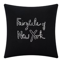 Bella Freud Fairytale Of New York Cushion Black