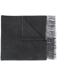 N.Peal Doubleface Woven Scarf Grey