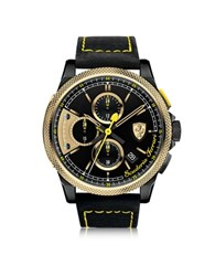 Ferrari Formula Italia S Stainless Steel Men's Chrono Watch Black