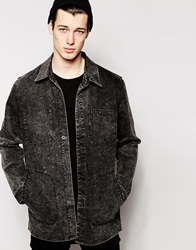 Cheap Monday Denim Jacket Labour Longline Mad Black Madblack