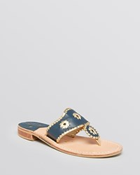 Jack Rogers Thong Sandals Nantucket Navy
