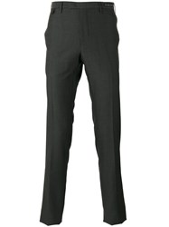 Pt01 Patterned Tapered Tailored Trousers Grey