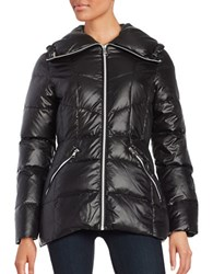 Karl Lagerfeld Quilted Puffer Coat Black