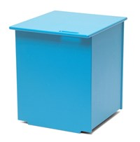 Loll Designs Mondo Single Planter With Lid Sky Blue