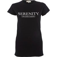 River Island Black 'Serenity' Fitted T Shirt