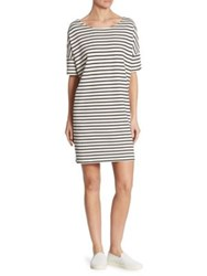 Hatch Everyday Afternoon Striped Dress Navy Ivory