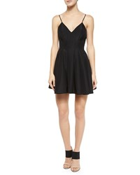 Keepsake Star Crossed Pleated Fit And Flare Dress Black