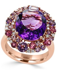 Effy Amethyst 7 3 8 Ct. T.W. Pink Tourmaline 3 4 Ct. T.W. And Diamond 1 5 Ct. T.W. Ring In 14K Rose Gold
