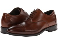 Stacy Adams Kordell Cognac Leather Men's Lace Up Cap Toe Shoes Brown