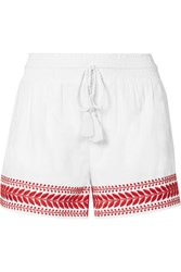 J.Crew Embroidered Cotton Voile Shorts White Usd