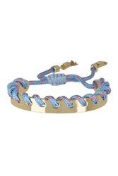 Rebecca Minkoff Climbing Rope Whipstitch Cuff Bracelet Turquoise