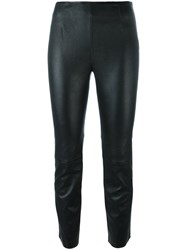 T By Alexander Wang Cropped Trousers Black