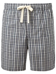 John Lewis Hook Check Lounge Shorts Grey