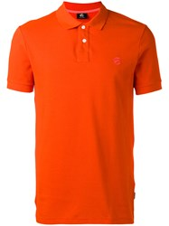 Paul Smith Ps By Embroidered Logo Polo Shirt Yellow Orange