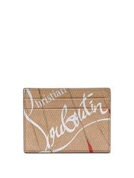Christian Louboutin Kios Smooth Leather Cardholder Beige