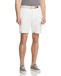 Tailorbyrd Garment Washed Twill Shorts White