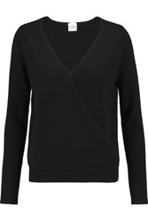 Madeleine Thompson Denton Wrap Effect Cashmere Sweater Black