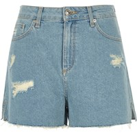 River Island Womens Light Blue Raw Hem Distressed Shorts
