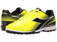 Diadora Mago R Tf Yellow Flourescent Dd Black Soccer Shoes