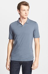 Men's Armani Collezioni Johnny Collar Polo Solid Medium Grey
