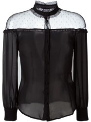 Red Valentino Sheer Panel Blouse Black