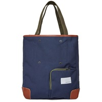 Nanamica Two Way Tote Bag Navy And Khaki