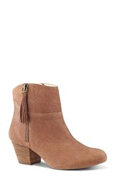 Nine West Women's 'Hannigan' Tassel Bootie Dark Natural Leather
