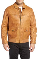 Tommy Bahama Men's Big And Tall 'Santiago' Lambskin Leather Aviator Jacket