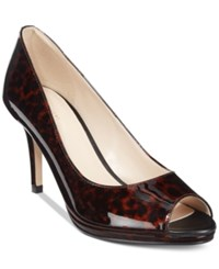 Cole Haan Davis 75 Open Toe Pumps Women's Shoes Brown