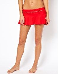 Juicy Couture Bikini Skirt Siren Red