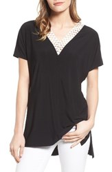 Chaus Women's Lace Trim Tee