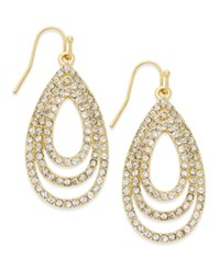 Inc International Concepts Gold Tone Pave Crystal Nested Teardrop Earrings Only At Macy's