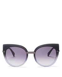 Marc By Marc Jacobs Cat Eye Sunglasses 54Mm Black Shaded Gray Dark Gray Gradient