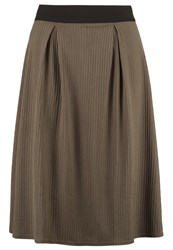 Lost Ink Plus Aline Skirt Khaki