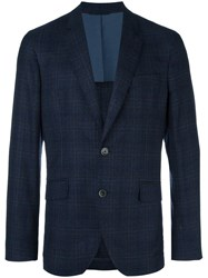 Hackett Plaid Blazer Blue