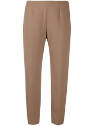 Piazza Sempione Tailored Cropped Trousers Neutrals