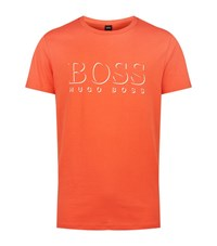 Hugo Boss Green Swim Logo T Shirt Male Orange
