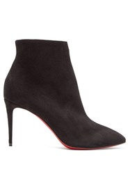 Christian Louboutin Eloise 85 Suede Ankle Boots Black