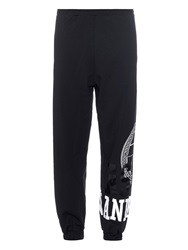 Astrid Andersen Logo Print Stretch Jersey Track Pants